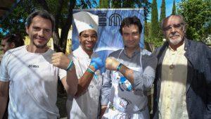 Javier Callejo, Jimmy Brody, Pepe Rodríguez y Tío Alberto durante el 46 Aniversario